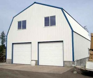Gambrel Garage Shop Home Steel Building 2nd Floor all Metal