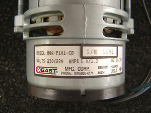 Gast Moa p101 cd Vacuum Pump 230 220v New