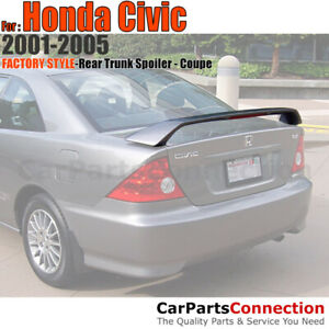Painted Trunk Spoiler For 2001 2005 Honda Civic 2 Door Coupe B96p Eternal Blue