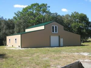 2 Story American Barn all Galvanized Steel Insulated Building Garage metal