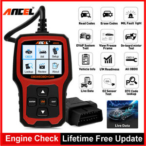 Ad410 Check Engine Light Scan Code Reader Auto Obd2 Scanner With I m Readiness