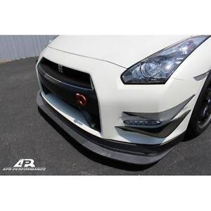 Apr Performance Carbon Fiber Front Bumper Canards Skyline R35 Gtr Gt r 12 16 New