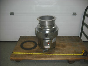 In sink erator Ss 1000 10 Hp Stainless Commercial Disposer Used
