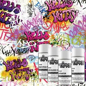 Hydrographic Film Kit W Activator Hydro Dip Hydro Dipping Kitty Graffiti Ll 121
