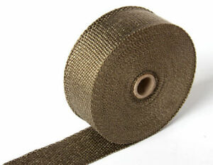 Titanium Exhaust Header Heat Wrap 1 X 25 Roll With Stainless Ties Kit