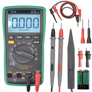 Digital Multimeter Auto ranging With Alligator Clips extended Probe Tips Test