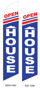Two Open House 15 Foot Swooper Feather Flag Sign