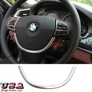 Stylish Abs Chrome Steering Wheel Cover Trim For Bmw 5 Series F10 2011 2015