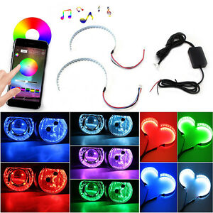 Led Demon Eye Halo Ring Bluetooth Remote Control For Headlight Projector Lens
