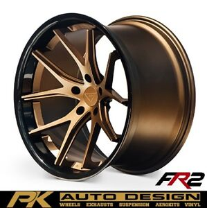 20 Ferrada Fr2 Bronze Concave Wheels Rims Fits Jaguar Xkr