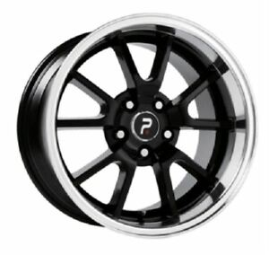 4 New 18x9 30 Mustang Fr500 Black W Machine 5x4 5 5x114 3 Replica Wheels Rims