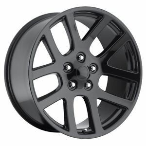 1 New 20x9 20 Dodge Ram Srt10 Gloss Black 5x115 Replica Wheel doesn t Fit Ram