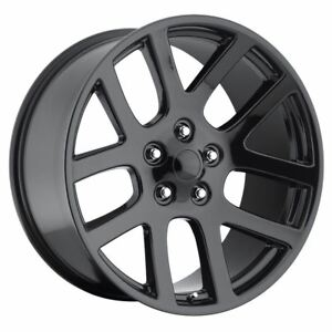 1 New 22x9 18 Dodge Ram Srt10 Gloss Black 5x115 Replica Wheel doesn t Fit Ram
