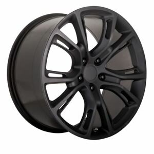 1 New 20x9 5x115 Jeep Srt 8 26 Matte Black Replica Wheel doesn t Fit Jeep