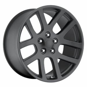 1 New 22x10 25 Dodge Ram Srt10 Matte Black 5x5 5 5x139 7 Replica Wheel Rim
