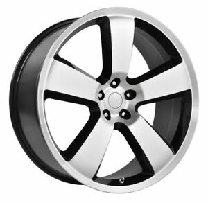 4 New 20x9 20 Dodge Charger Srt8 Gloss Black Machined 5x115 Replica Wheels Rims