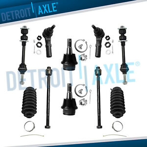 New 10pc Complete Front Suspension Kit For Dodge Ram 1500 2wd 5 lug Only