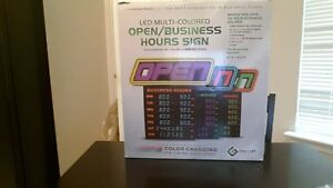 Greenlight Innovations Hours Open Sign Business Store Sign Gli 1057