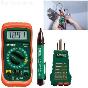Electrical Test Kit Multimeter Non contact Voltage Detector Receptacle Tester