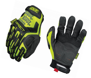 Mechanix Wear Hi viz M pact Gloves large Fluorescent Yellow