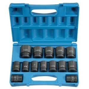 Grey Pneumatic 8038 3 4 Drive 14 Piece Sae Standard Length Impact Socket Set