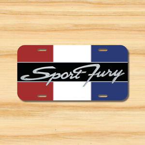 Sports Fury License Plate Vehicle Auto Tag Plymouth 1964 Hot Rod Free Shipping
