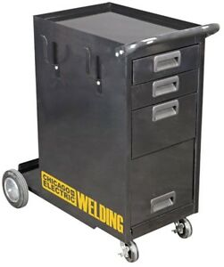 Welding Cabinet Storage Welder Mig Tig Arc Flux Plasma Push Rolling Cart Shelves