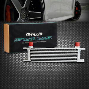 Gplus 10 Row An 10an Universal Engine Aluminum Transmission Oil Cooler Silver