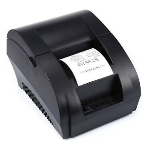 Thermal Printer Usb Port Receipt Pos 58mm Black Barcode Mini 80mm Hprt Eu Plug