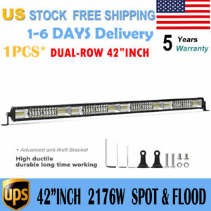 Cree 42inch 560w Led Work Light Bar Curved Offroad Ford 40 44 Wiring Harness