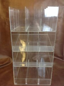 Clear Acrylic Lucite 4 Tier Retail Counter Shelf Store Accessories Display