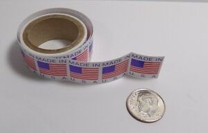 500 Small 5 8 X 5 8 Made In The Usa Sticker Labels Great For Homemade Items