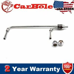Dual Feed Fuel Line Chrome 4150 3 8 Hose Barb Inlet Kit 5 8 Outlet