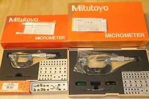 Mitutoyo Pana 0 1 1 2 Micrometer Anvil Set Blade Point Disc Flange Spherical