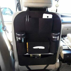 Black Car Seat Back Multi Pocket Travel Storage Bag Organizer Holder Accessory