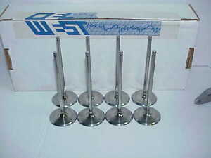 8 New Del West Titanium 7mm Intake Valves 2 170 X 5 830 Long Nascar Sb2 2 Rd11