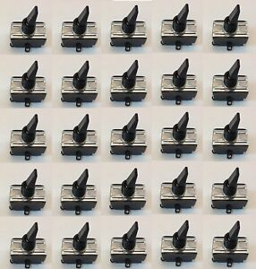 25 Pack Spst on off Medium Duty Toggle Switch 15a 120vac Blk Ztglbk15 25pk