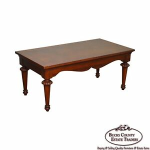 Lexington Cherry Wood Regency Style Rectangular Coffee Table