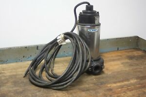 Abs Submersible Sewage Pump 2hp 3450 Rpm 230v 43 Gpm Disc 1 1 4