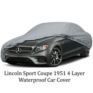 4 Layer Waterproof Car Cover Lincoln Sport Coupe 1951
