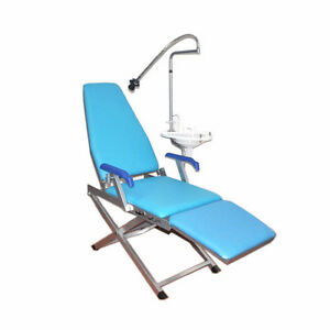 Portable Folding Dental Chair Unit Water Supply System Cuspidor Tray handpiece 4