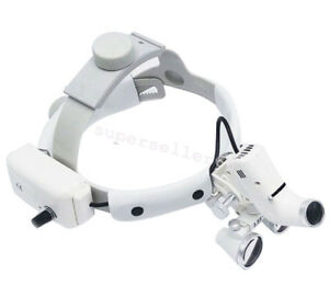 Dental 3 5x Headband Medical Binocular Loupes Magnifier Led Headlight Ajustable