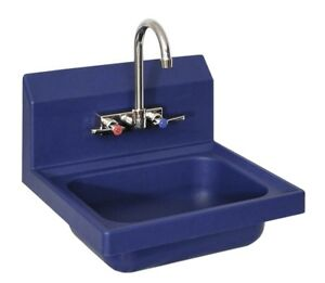 Bk Resources Aphs w1410 be Antimicrobial Plastic Hand Sink With 4 Faucet