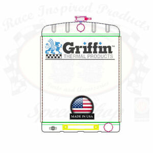 Griffin Universal Rat Rod Radiator W Automatic Transcooler 16x22 Tcbr 1 70214