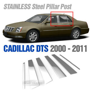 Chrome Stainless Steel Window Pillar Garnish Cover 6p For Cadillac 2000 2011 Dts