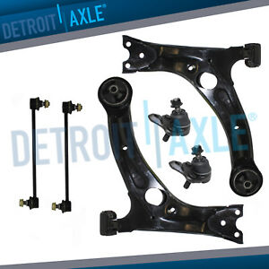 6pc Front Lower Control Arms Ball Joints Sway Bar For 2003 2013 Toyota Corolla