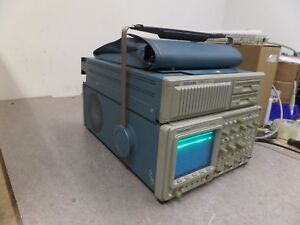 Tektronix 2432a Oscilloscope With Pouch Bag And 2402 Tekmate