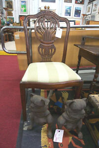 8 Hepplewhite Carved Dining Chairs 2 Arm 6 Side