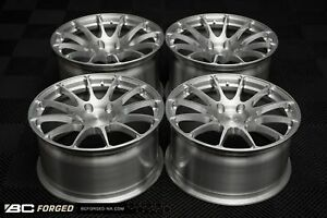 18 Bc Forged Mild Medium Concave Gloss Brushed Clear Wheels Fit Porsche Cayman