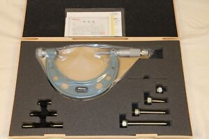 Mitutoyo 0 100mm 0 01mm Interchangeable Anvil Outside Micrometer Set Standards